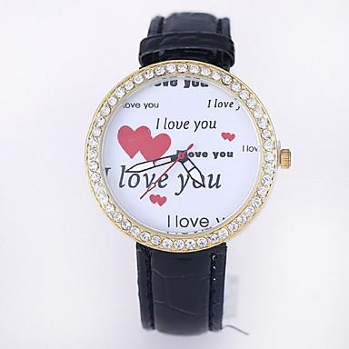 Damen Modeuhr Simultan? Diamant Uhr Quartz Armbanduhren für den Alltag Leder Band Schwarz Weiß Blau Rot Braun RoseSchwarz Rose Braun Rot