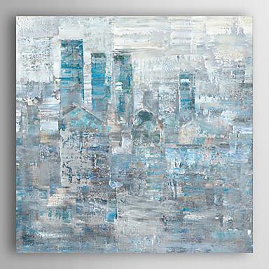 Handgemalte Abstrakt Quadratisch, Modern Segeltuch Hang-Ölgemälde Haus Dekoration Ein Panel