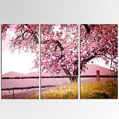 Paisagens Abstratas Modern,3 Painéis Tela Horizontal Estampado Decoração de Parede For Decoração para casa