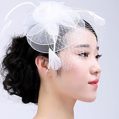 Tüll Feder Fascinatoren 1 Hochzeit Besondere Anlässe Normal Draussen Kopfschmuck