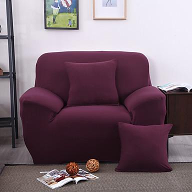 Moderne Polyester Overtrekk til sofa , Strekk Anti-Midd Ensfarget slipcovere