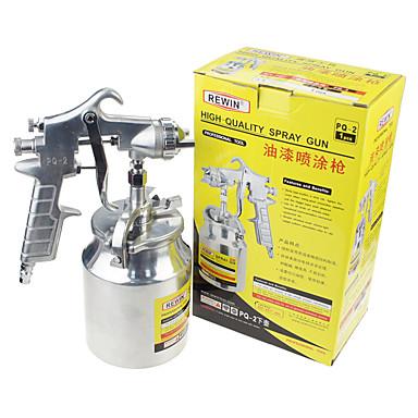rewin® verktøy pneumatisk maling sprayer lavere pott sprøytepistol (pq-2)