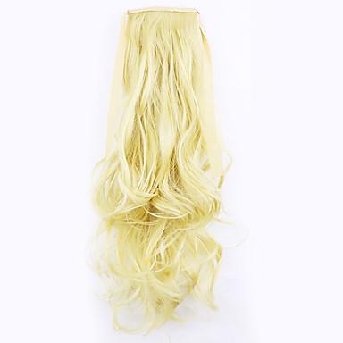 golden lengde 50cm fabrikken direkte salg bind typen curl horsetail hår hestehale (farge 86/613)