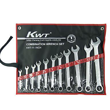 regrl® 11 conjuntos de cromo vanádio ferramentas manuais de aço combinação chave conjuntos de hardware