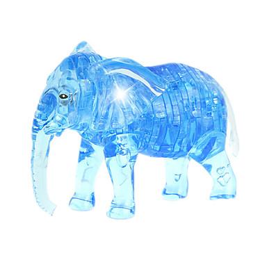 ZHILING Bausteine Holzpuzzle Kristallpuzzle Spielzeuge Elefant Neuartige Krystall ABS 41 Stücke
