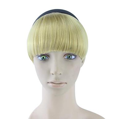 rizado cabello humano rizado de oro teje moños 1011