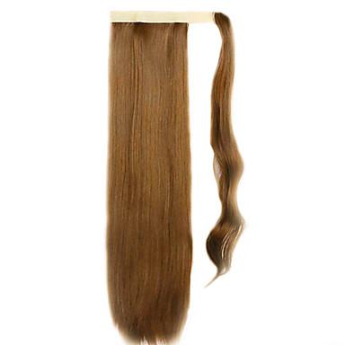 marrom 60 centímetros sintética de alta temperatura fio peruca cabelo liso cor rabo de cavalo 27
