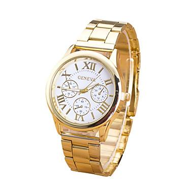 Mujer Reloj de Pulsera Reloj Casual Acero Inoxidable Banda Encanto / Moda Dorado