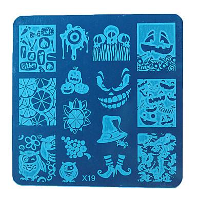 1 Nägel Stempel Bild-Schablonen-Platten Stamper Scraper