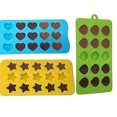Backform Stern Herz Für Süßigkeit Chocolate Obstkuchen Kuchen Silikon Umweltfreundlich Valentinstag Gute Qualität