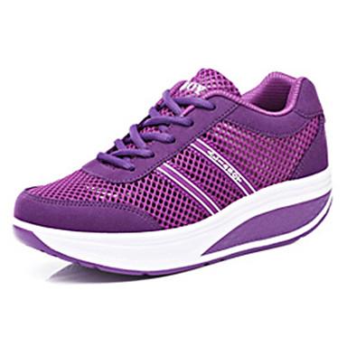 Kényelmes-Lapos-Női cipő-Divatos teniszcipők-Alkalmi-Tüll-Rózsaszín / Lila / Sötétvörös
