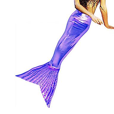 Meerjungfrau Cosplay Kostüme Party Kostüme Herrn Damen Halloween Karneval Fest / Feiertage Halloween Kostüme Austattungen Golden / Fuchsia / Dunkelgrün Solide