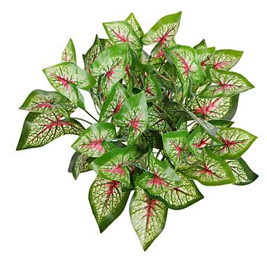 1 ענף צמחים פרחים לרצפה פרחים מלאכותיים