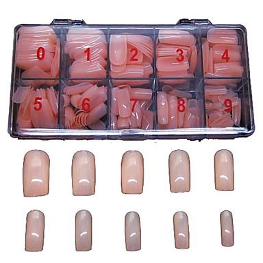 500 buc fleshcolor false sfaturi pline de unghii acoperi decor pentru sfaturi deget acrilice