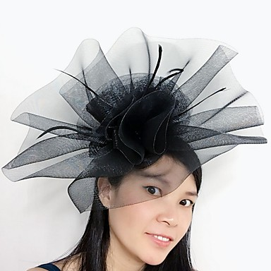 Damen Tüll Feder Netz Kopfschmuck-Hochzeit Besondere Anlässe Kopfschmuck 1 Stück