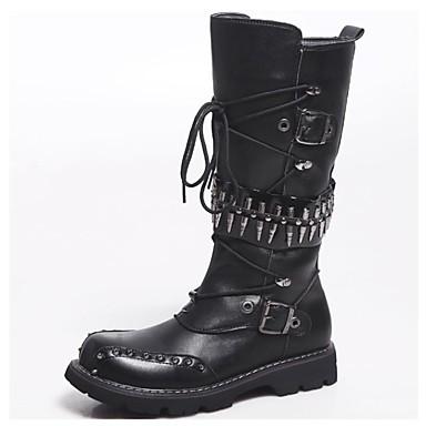Hombre-Tacón Plano-Confort / Botas Anfibias / Cowboy / Botines / Botas de Equitación / Botas a la Moda / Botas de Moto / Trabajo y
