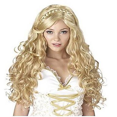Szintetikus parókák Hullámos Sűrűség Sapka nélküli Női Carnival Paróka Halloween paróka Hosszú Szintetikus haj