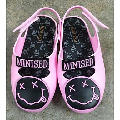 Chaussures bébé-Noir / Rose-Décontracté-PVC-Plates