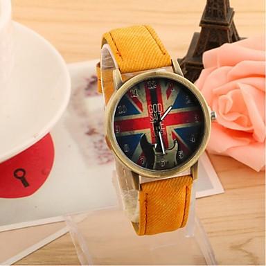 Masculino Mulheres Casal Relógio de Moda Relógio Casual Quartzo Tecido Banda Preta Branco Azul Vermelho Verde Amarelo