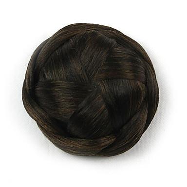 comprimento ciano entupido peruca cinco centímetros Kinky sintética cor encaracolados flores alta temperatura empregador 2/30