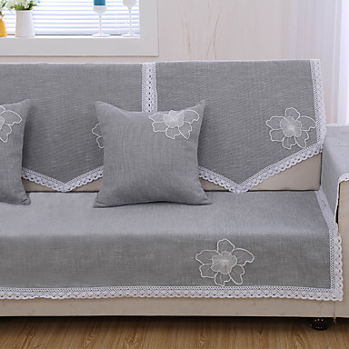 Moderna Chenile Cobertura de Sofa, Forma Assenta Sólido Capas de Sofa