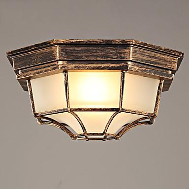 Rétro Montage du flux Lumière d'ambiance - Style mini, 110-120V 220-240V Ampoule non incluse