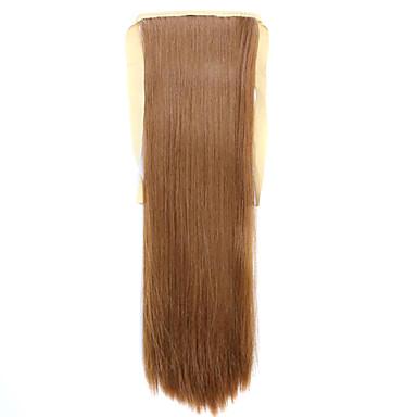 De alta temperatura peruca marrom 60 centímetros de arame estilo cinta rabo de cavalo cor do cabelo peruca 27