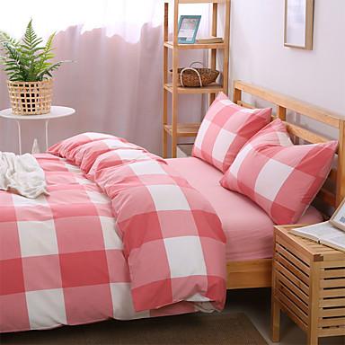 Bettbezug-Sets Geometrisch 4 Stück Reaktivdruck 1 Stk. Bettdeckenbezug 2 Stk. Kissenbezüge 1 Stk. Betttuch