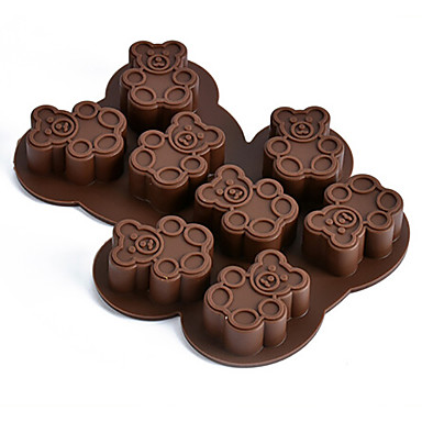 Bakeware verktøy Silikon Økovennlig / 3D Kake / Pai / Sjokolade Dyr Bakeform 1pc
