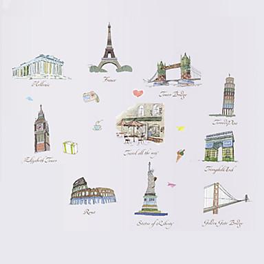 Dekorative Mur Klistermærker - Ord og citater Wall Stickers Landskab / Sille Liv / Mode Stue / Soveværelse / Spisestue / Kan fjernes
