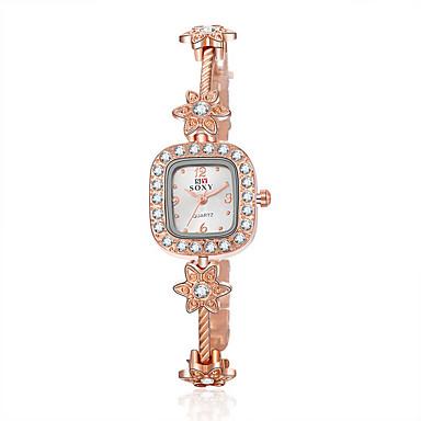 Damen Modeuhr Armband-Uhr Quartz Wasserdicht Legierung Band Elegante Rotgold Rotgold