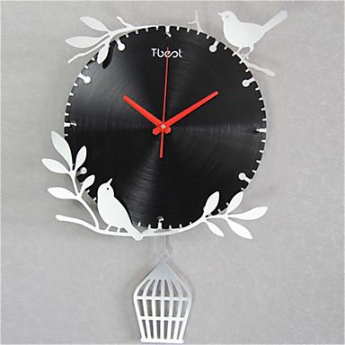 Modern/Zeitgenössisch Anderen Wanduhr,Anderen Metal Uhr