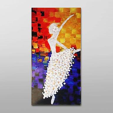 kézzel festett olajfestmény ilyen vastag textúra balett lány dekoráció feszített keret