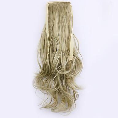Clássico Rabos-de-Cavalo Alta qualidade Pedaço de cabelo Alongamento Loira Diário