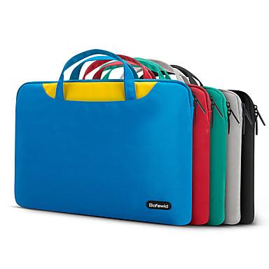 pofoko® 13.3 / 14 אינץ 'שרוול מחשב נייד עמיד למים אוקספורד בד ירוק / שחור / כחול / אפור