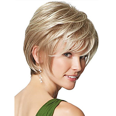 Synthetic Wig Straight Synthetic Hair Wig Women's Short Capless