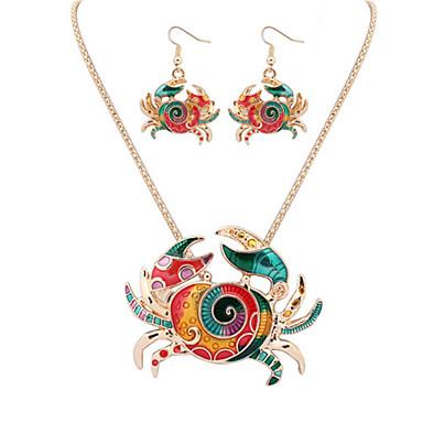 Mujer Conjunto de joyas - Europeo, Moda, Estilo lindo Incluir Collar / pendientes Plata / Dorado Para Fiesta Diario Casual / Pendientes / Collare