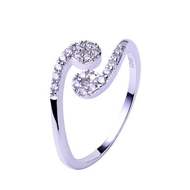 Eheringe Ring Sterling Silber Einstellbar Modisch Silber Schmuck Hochzeit Party Alltag Normal 1 Stück