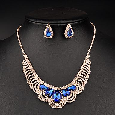 Damen Schmuckset Kristall Brautkleidung Strass Halsketten Ohrringe Für Hochzeit Party Besondere Anlässe Geburtstag Hochzeitsgeschenke