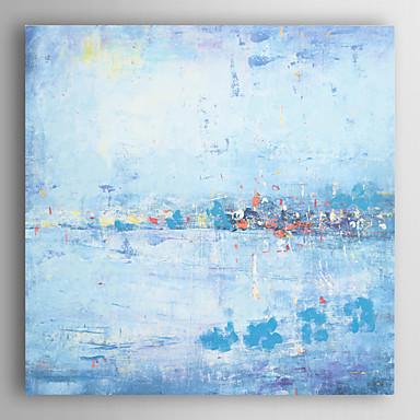 יד ציור שמן שצויר ציור חגיגות חוף מופשטות עם arts® קיר מסגרת 7 נמתחה