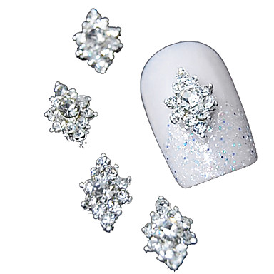 10pcs 3d clear rhinestone diamond flower diy accessories alloy nail art  decoration 590e6122cb6c