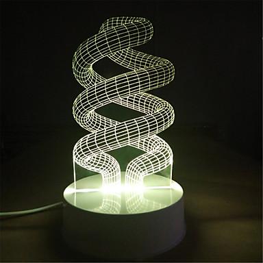 bunte Lichter kreative Geschenkgeschenk Geburtstag 3d Hochzeit Kinder Kindraum-Schlafzimmerlampe USB-Stereo-Stecker NIGHT