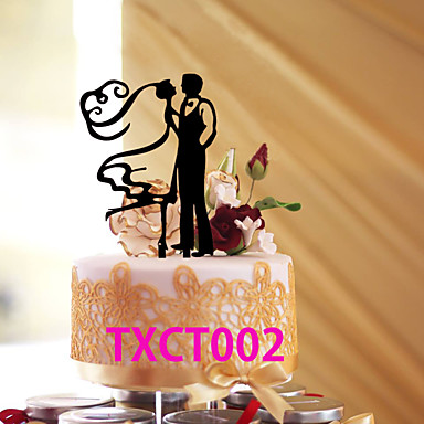 Tortenfiguren & Dekoration Klassisch Klassisches Paar Acryl Hochzeit mit 1 pcs OPP