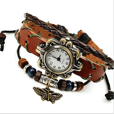 לנשים שעוני אופנה שעון צמיד דיגיטלי עור להקה בוהמי חום חום