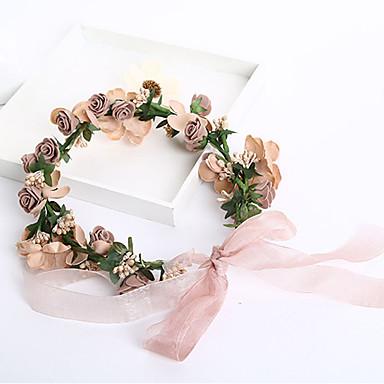 Damen Blumenmädchen Schaumstoff Stoff Kopfschmuck-Hochzeit Besondere Anlässe Freizeit im Freien Kränze 1 Stück