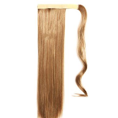 marrom reta mistura rabos de cavalo peruca de cabelo em linha reta 10/613