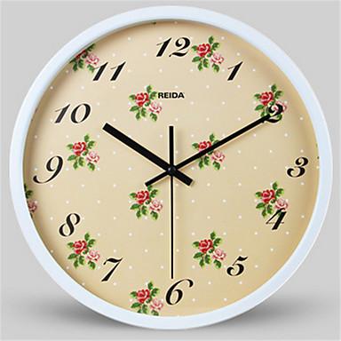 Moderno/Contemporâneo Outros Relógio de parede,Redonda Metal Relógio