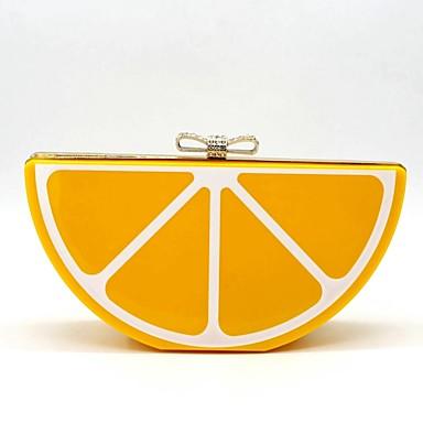 abordables Sacs-Femme Sacs Acrylique Sac de soirée / Echarpe / Ruban Bijoux acryliques Orange