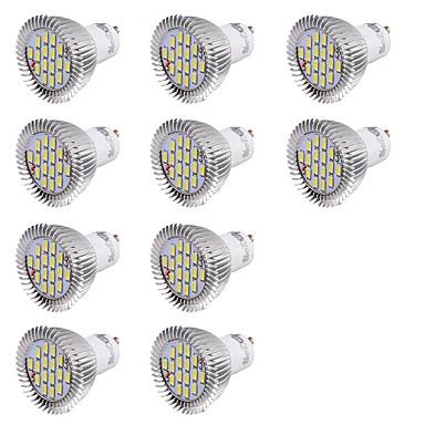 GU10 Lâmpadas de Foco de LED MR16 16 leds SMD 5630 Decorativa Branco Frio 560lm 6000K AC 220-240V