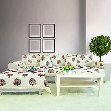 jacquard coton / lin canapé flocage couverture épaississement tissu antidérapant coussin de canapé